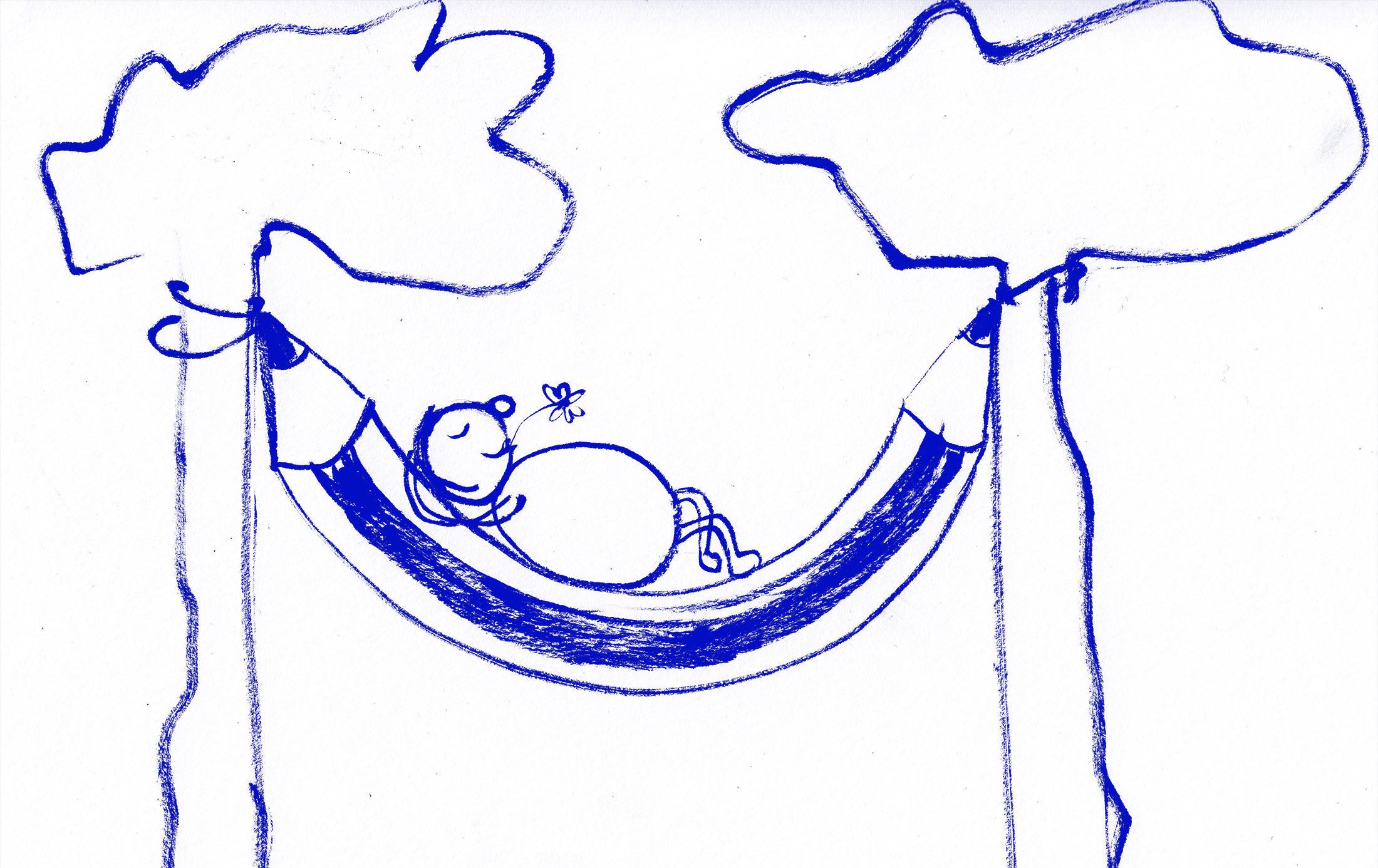 Klub Zeichenstift Zeichnung von Karin Kraemer